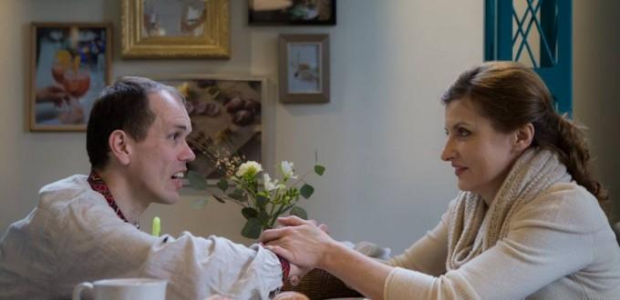 Roman lors de son café avec la femme du Président  Poroshenko